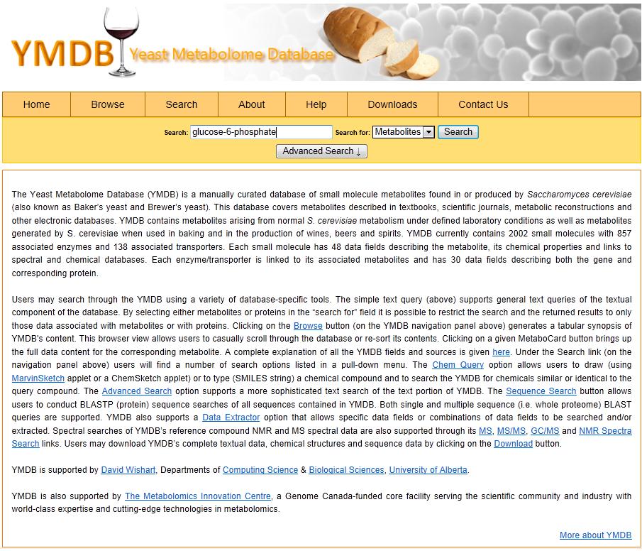 YMDB home page