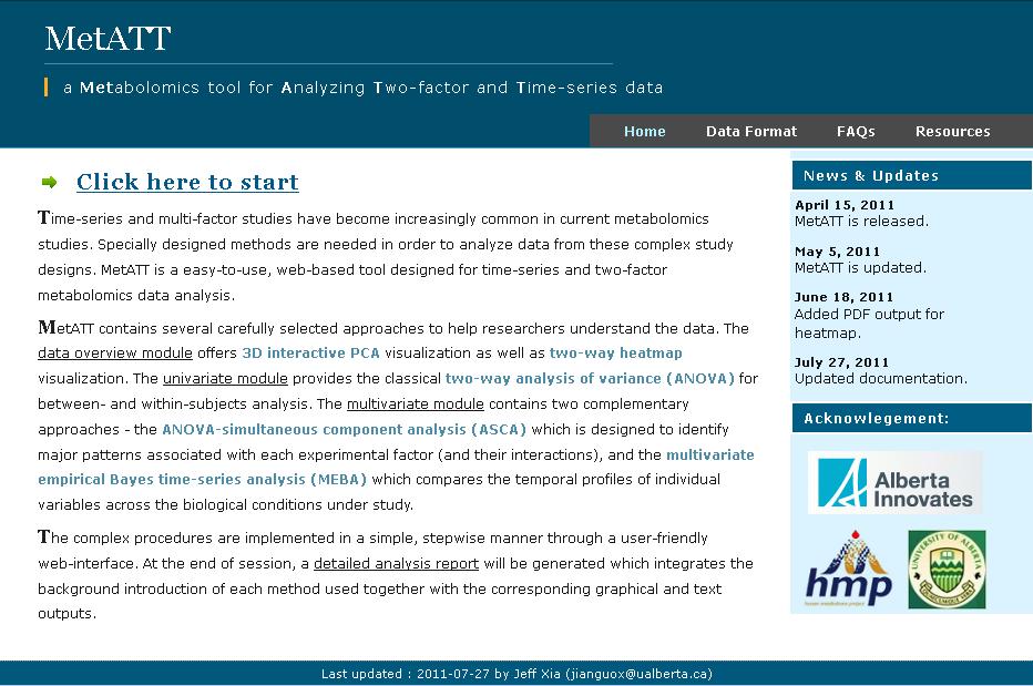 MetATT home page