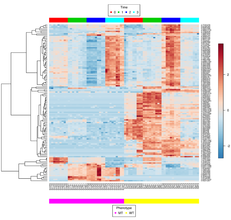 Two-way clustered             heatmap
