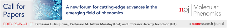 npj Molecular Phenomics: Call for Papers