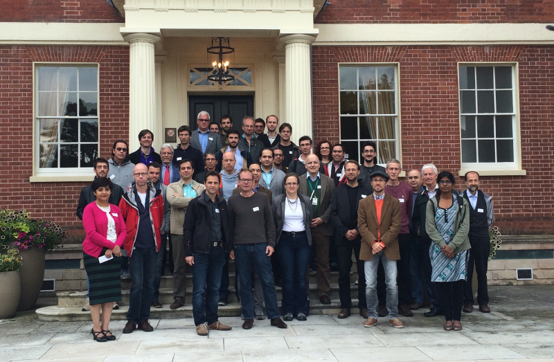 Photograph of the consortium members at the