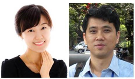 Prof Kyoung Heon Kim (right) and his postdoc,                       Dr Eun Ju Yun (left)