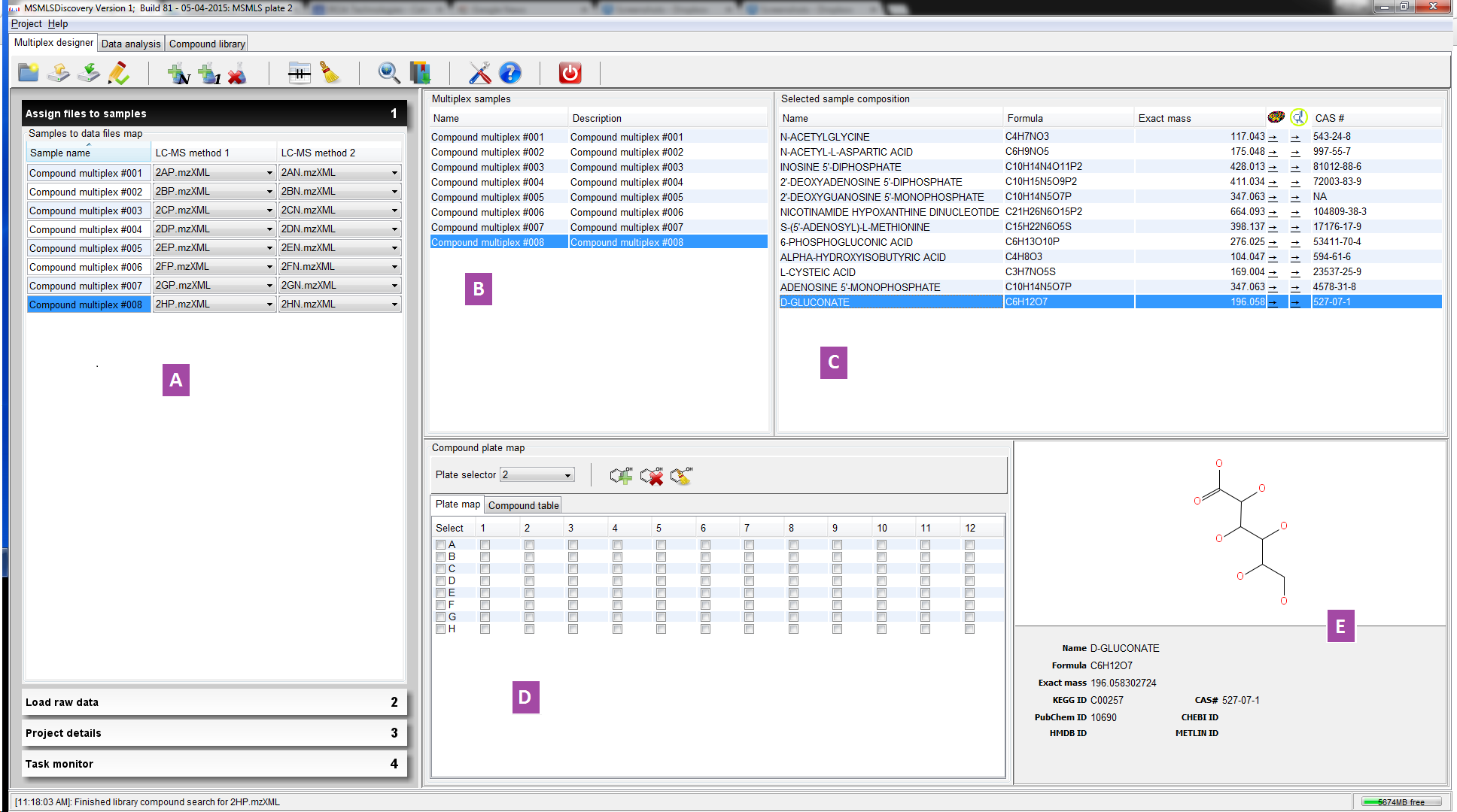 Multiplex             designer panel overview