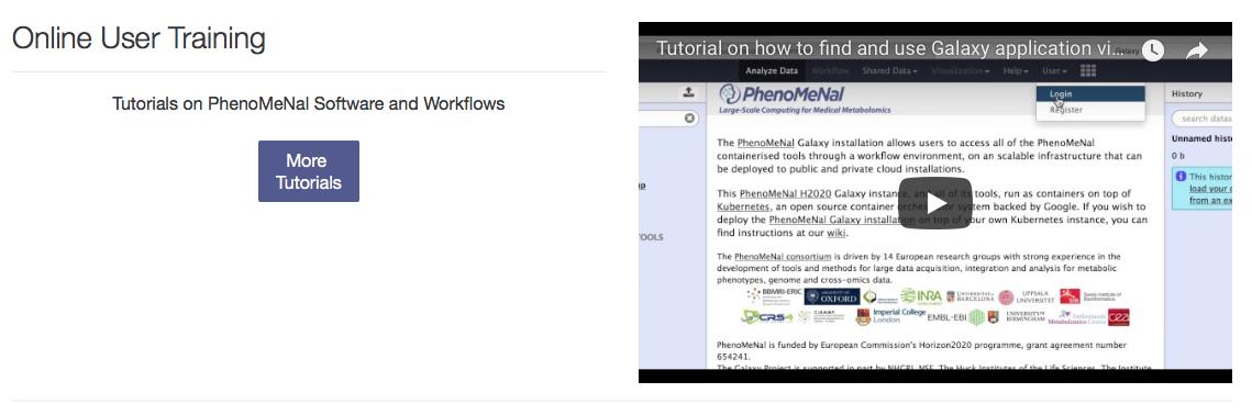 Screen                                                           shot of                                                           PhenoMeNal                                                           online user                                                           training