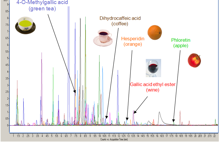 Urinary profile obtained by         high-resolution mass spectrometry (UPLC-QTof-MS)